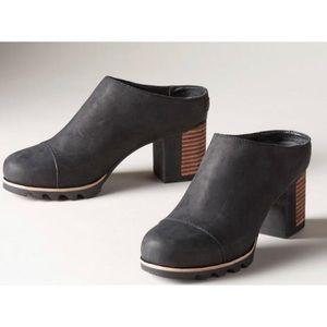 SOREL addington mule leather heel black